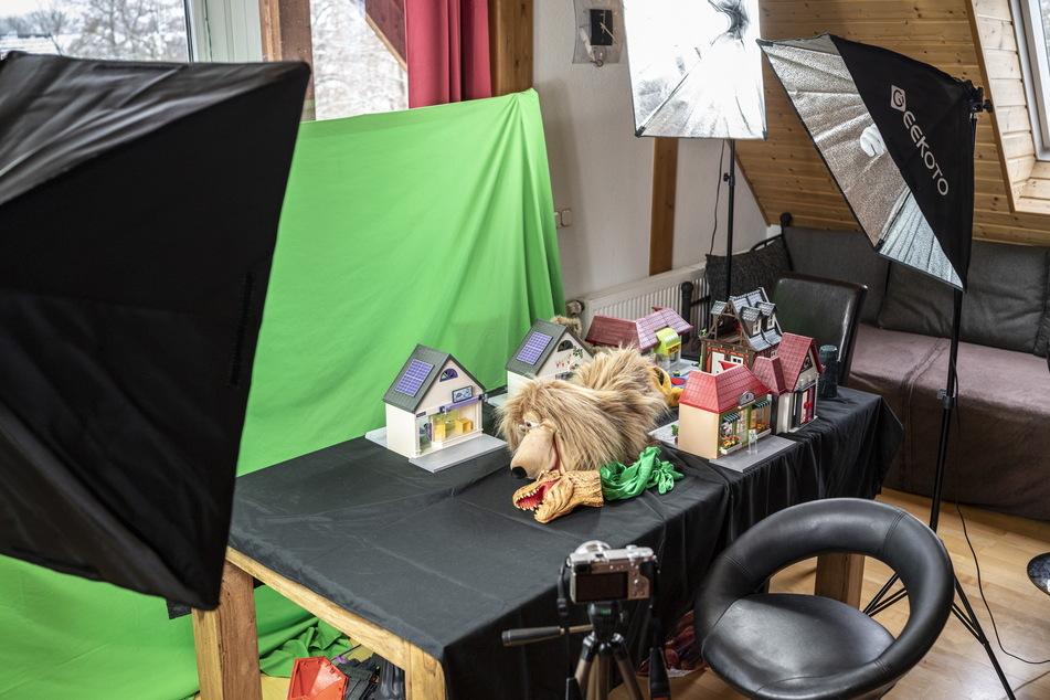 Für die Videos hat sich Thea Martin extra ein Set auf ihrer Winterterrasse eingerichtet.