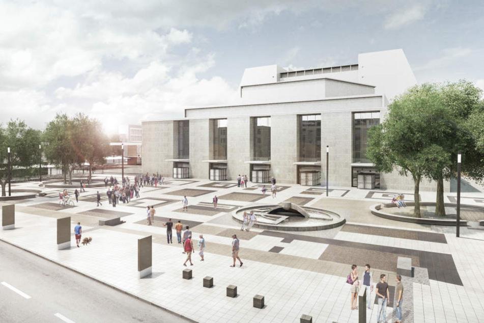 Dieser Entwurf für die Möblierung des Offenbachplatzes gewann und soll bis Ende 2022 umgesetzt werden.