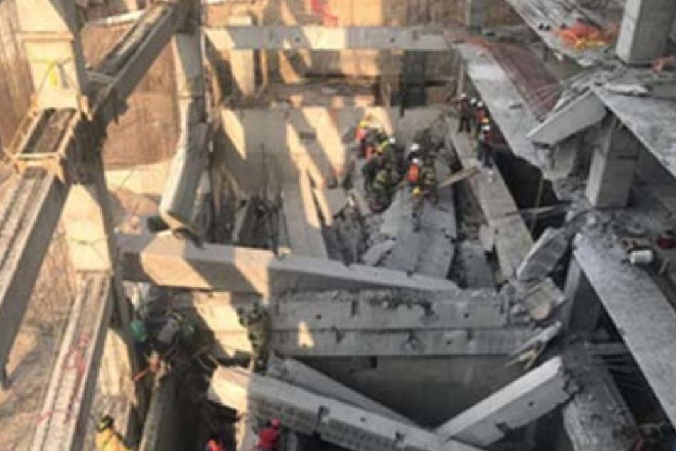 Sieben Arbeiter wurden unter den Trümmern begraben und überlebten das Unglück nicht.