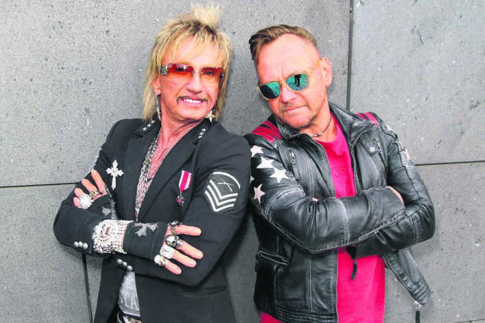 Machen zusammen Musik: Bordell-König Bert Wollersheim (67) und Schlager-DJ Engel B. alias Falk Engert (51).