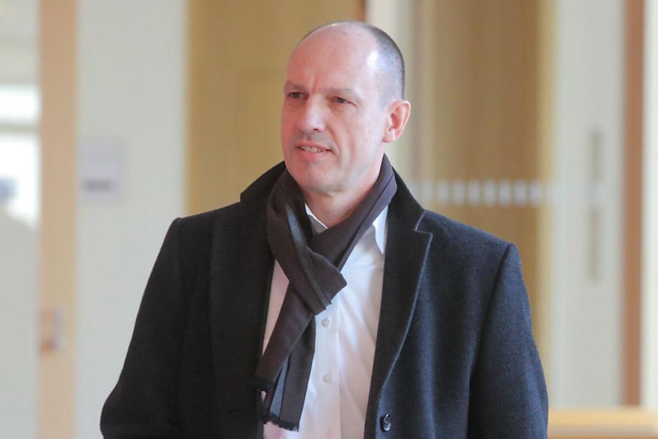 Jörg Michaelis (56) gestern am Dresdner Amtsgericht.