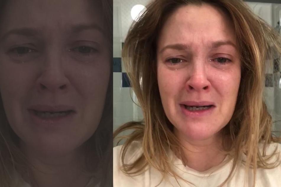 Mit diesem Tränen-Bild will Barrymore eine klare Botschaft senden.