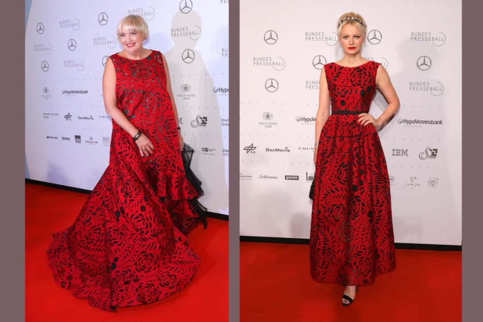 Ups! Claudia Roth (61, Die Grünen) erschien beim Bundespresseball im gleichen Kleid wie Topmodel Franziska Knuppe (41).