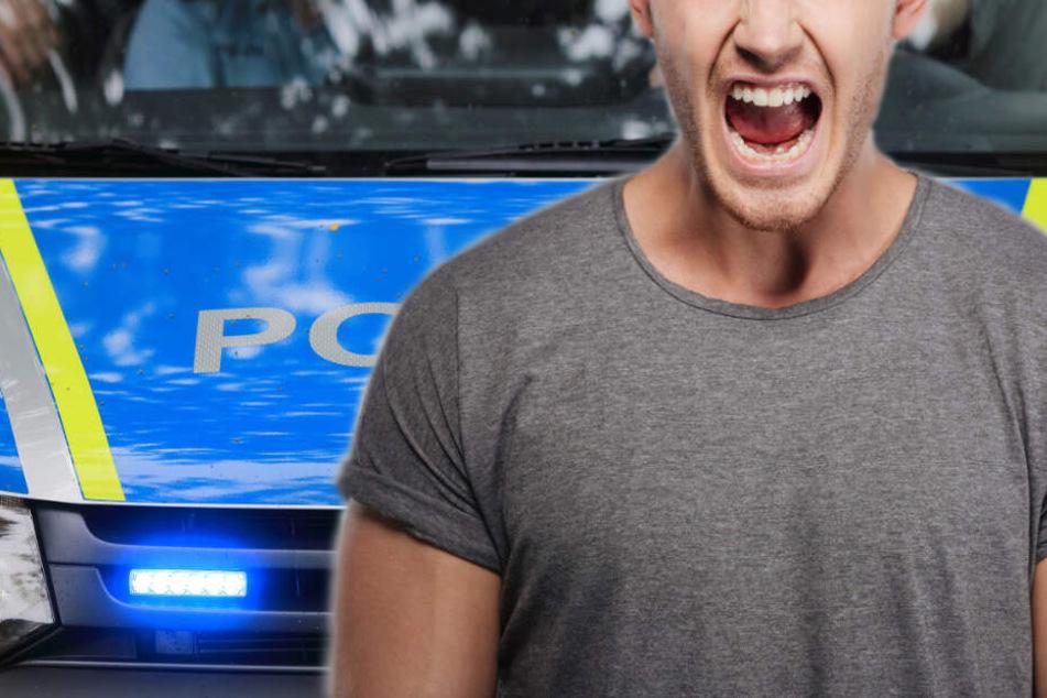Mann rastet aus und beißt Bundespolizisten