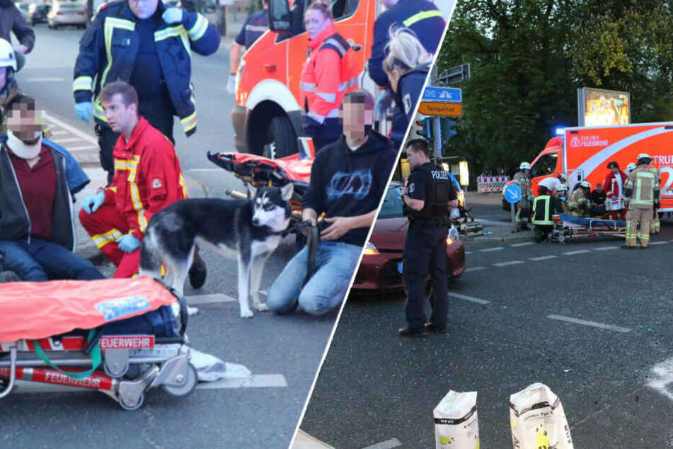 Kreuzungs-Crash! Autos krachen ineinander, drei Verletzte