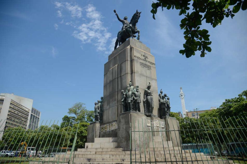 Die gestohlene Bronzefigur stammt von einem Denkmal zu Ehren des ersten Präsidenten Brasiliens.