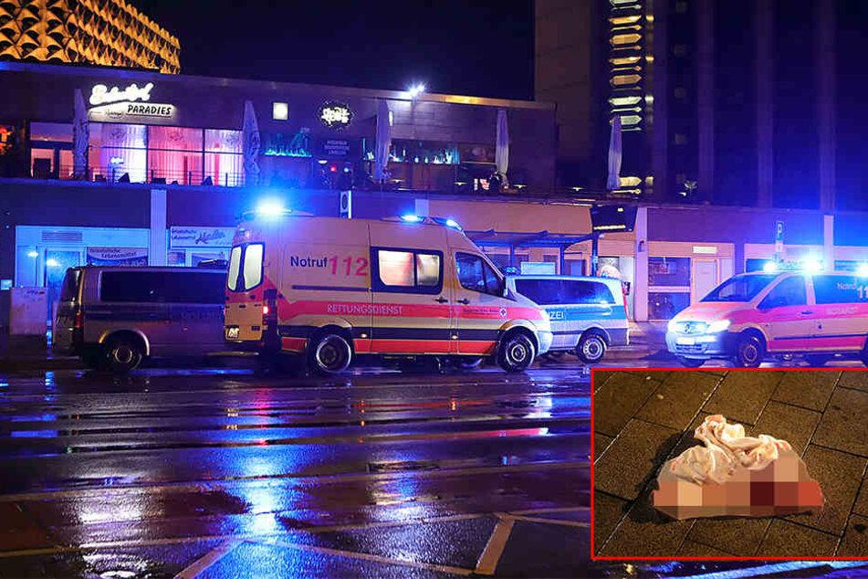 Blutbad in der Innenstadt! Mann mit Messer niedergestochen