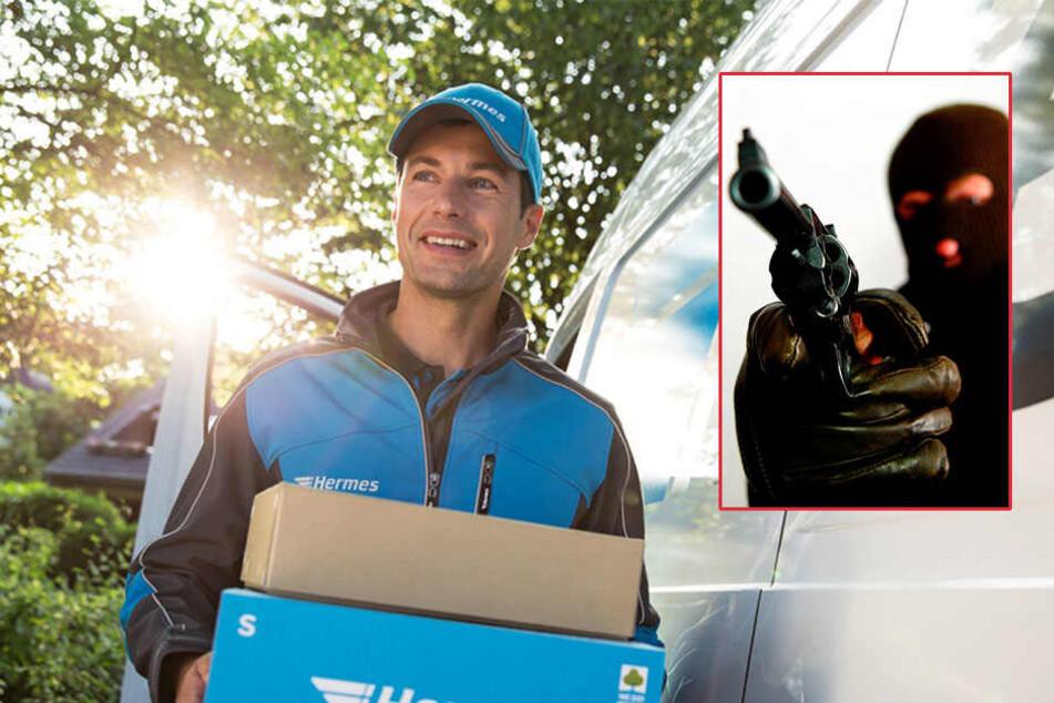 Beim Einräumen seines Lieferwagens ist ein Paketbote in Paderborn überfallen worden.