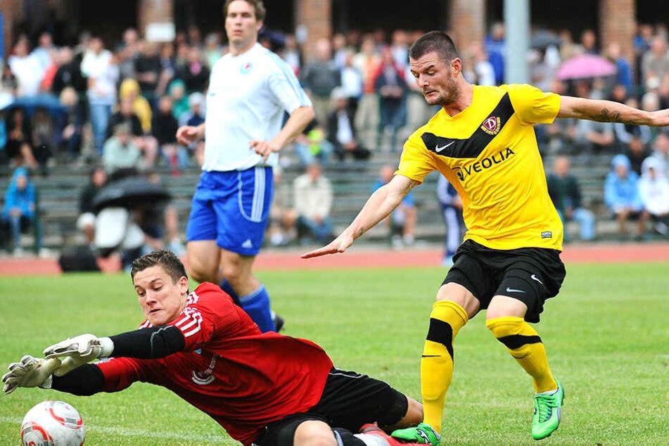 Lang ist es her. Marcel Heller bei einem SGD-Testspiel gegen Greifswald.