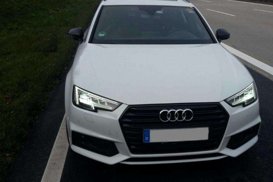 Der Audi wurde am Mittwochmorgen auf der A4 gestoppt.