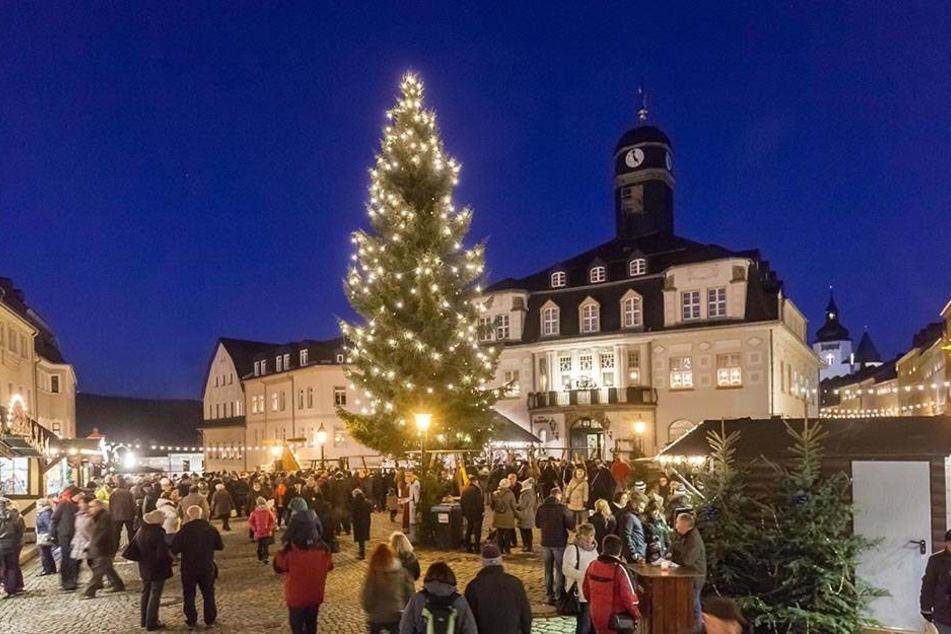 Nur für zehn Tage geöffnet: Der Schwarzenberger Weihnachtsmarkt.