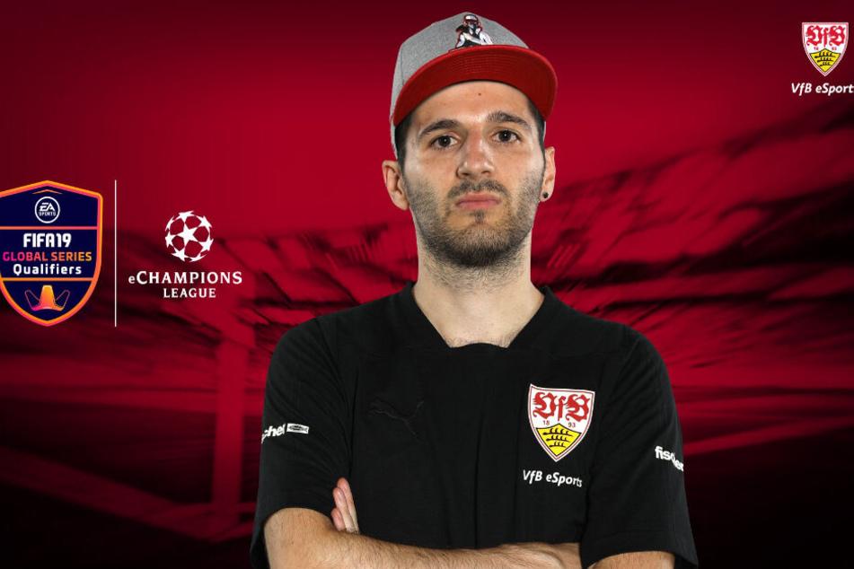 Erhan Kayman nimmt für den VfB Stuttgart eSports bei der ersten Ausgabe der eChampions League in Manchester teil.