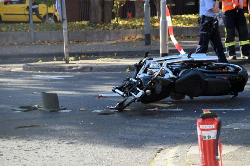 Auf diesem Motorrad verunglückte der Biker.