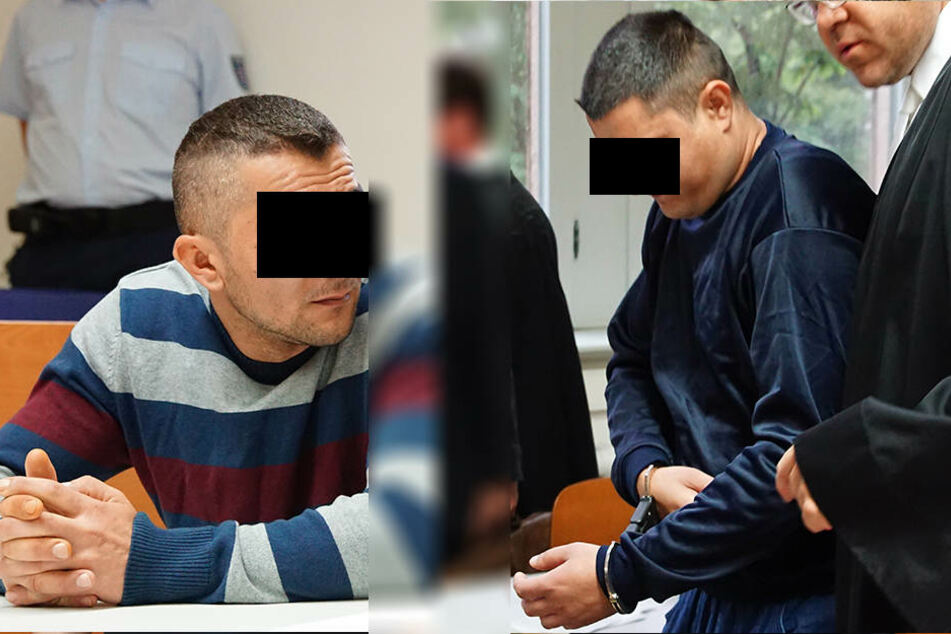 Das Verfahren gegen die vier Rumänen wurde am Donnerstag neu aufgerollt. Im Bild: Die Angeklagten Florin U. (links) und Marian D..