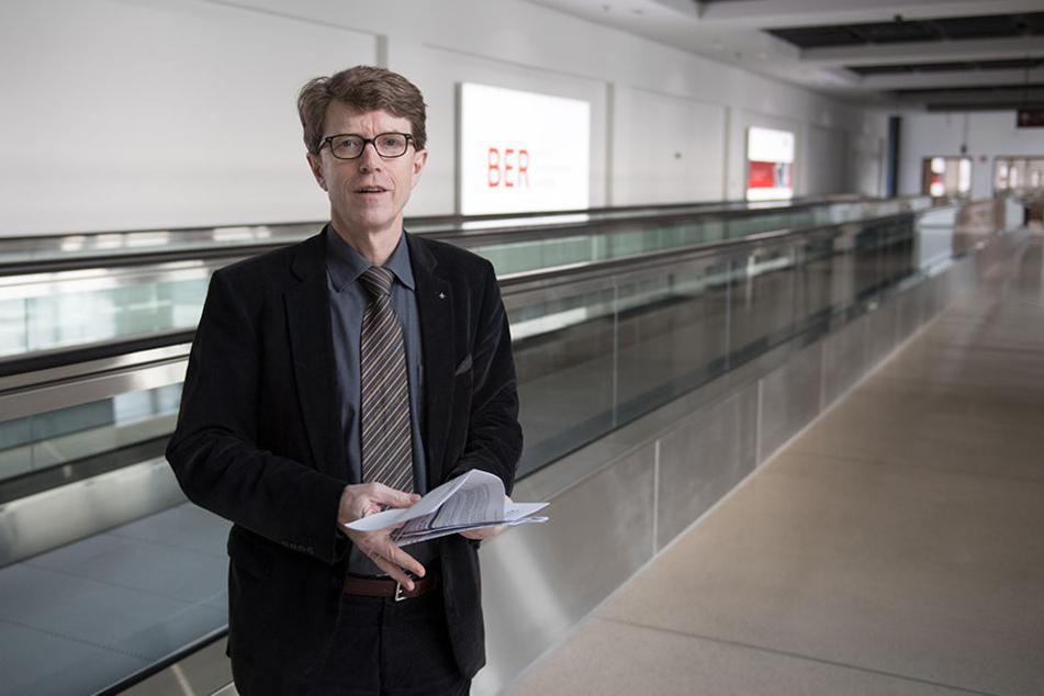 Flughafenchef Engelbert Lütke Daldrup lud am Mittwoch zu einem Presserundgang am BER ein.
