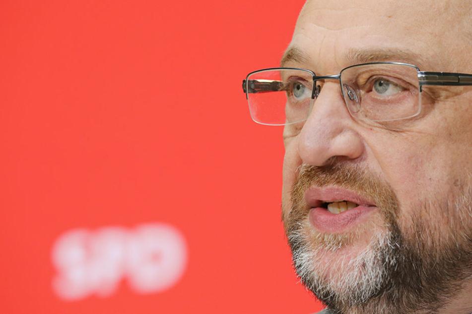 SPD-Chef Martin Schulz gibt in der Parteizentrale in Berlin ein Statement zu den gescheiterten Sondierungsgesprächen der Jamaika-Koalition ab.