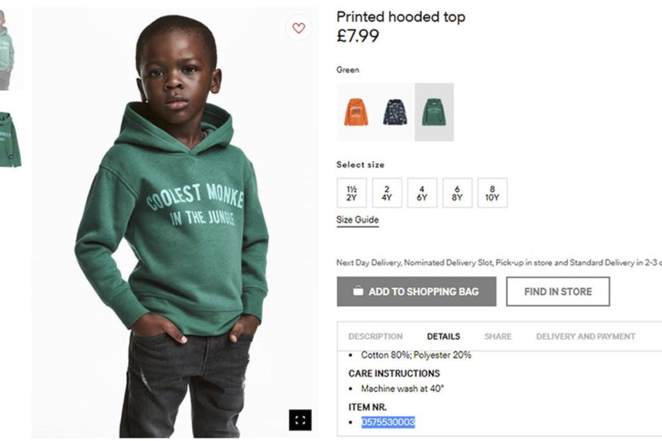 Durch dieses Bild wurde der H&M-Skandal ausgelöst.