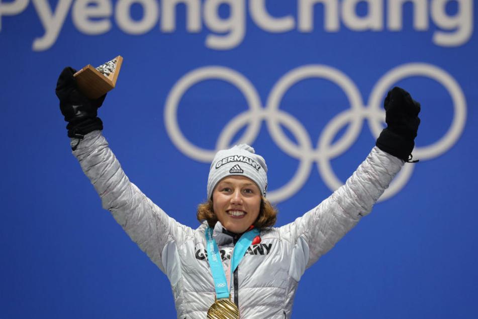 Laura Dahlmeier gewann im Sprint Gold.