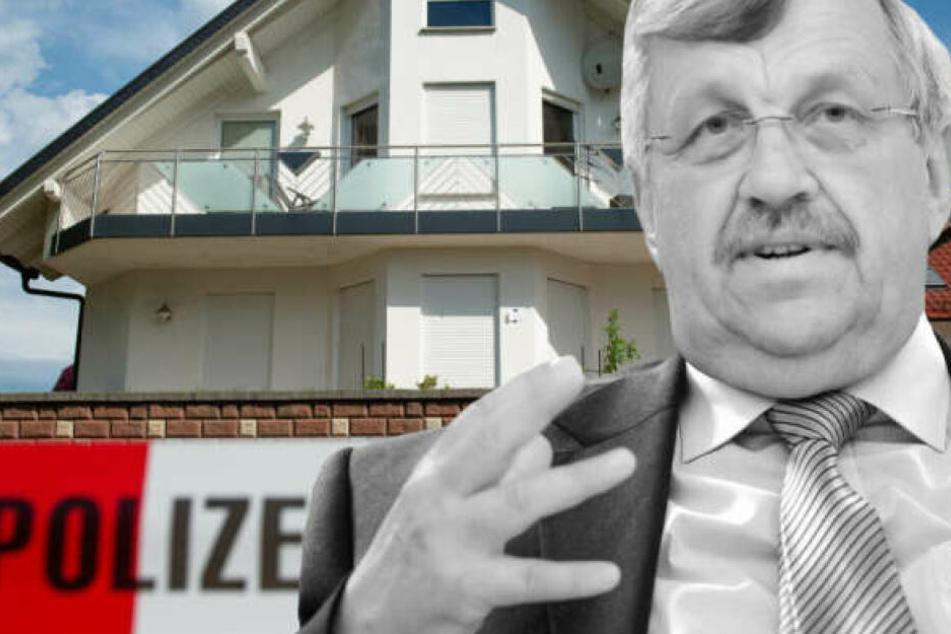 Fotomontage: CDU-Politiker Walter Lübcke wurde mit einer Schusswunde am Kopf im Garten seines Wohnhauses entdeckt.