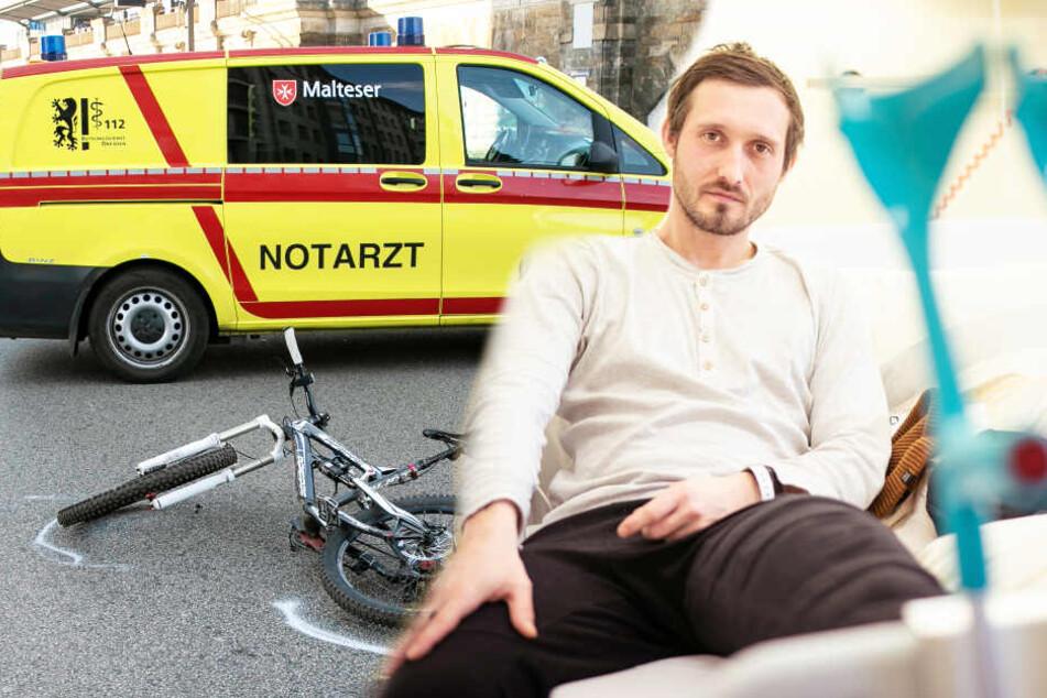 Radfahrer nach Unfall in Klinik: Jetzt appelliert er an alle im Verkehr
