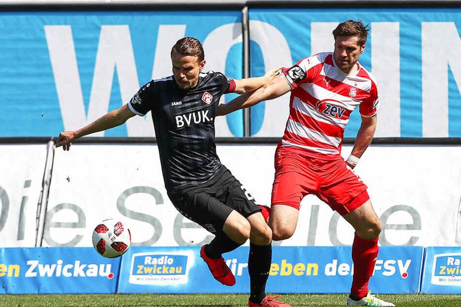 Sebastian Schuppan (l.) und die Würzburger Kickers empfangen Hoffenheim und sind ein durchaus anspruchsvoller Gegner.
