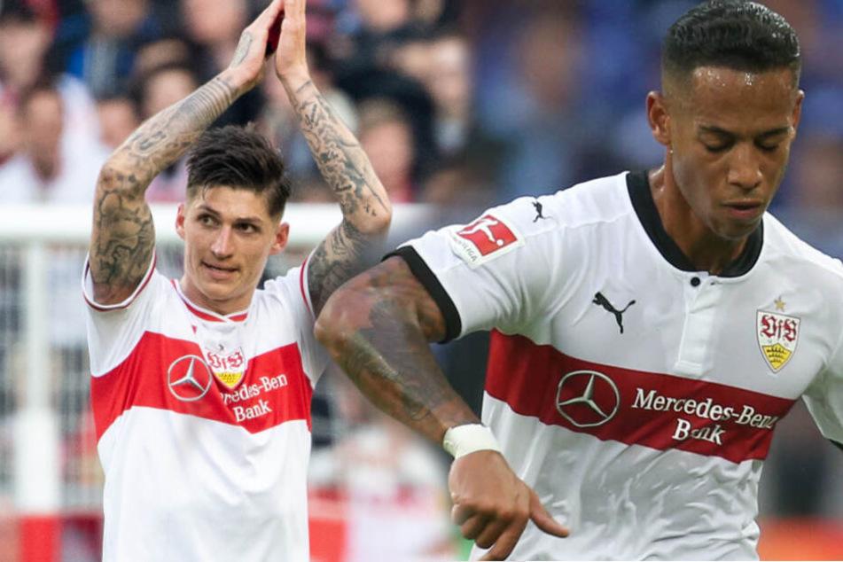 Die VfB Stuttgart-Profis Steven Zuber (links im Bild) und Dennis Aogo. (Fotomontage)