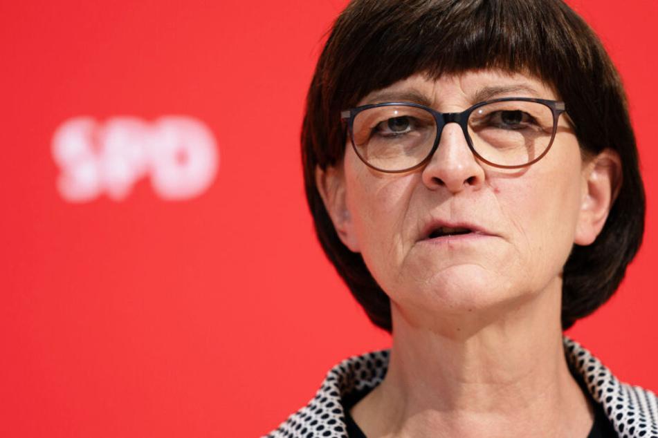 SPD-Chefin Saskia Esken kommt zur Klausur der Landtagsfraktion nach München