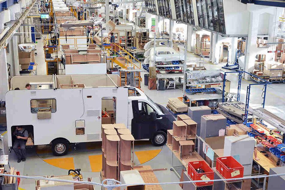 Bei Capron werden Reisemobile hergestellt. Das Unternehmen sucht neue Mitarbeiter.
