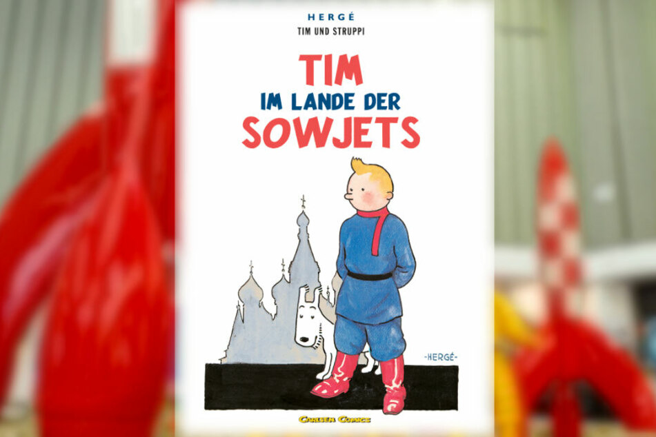 """90 Jahre """"Tim und Struppi"""": Herr mit Haartolle und Hund ganz in Weiß"""