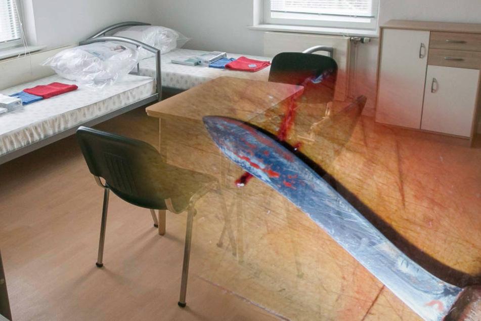 Eine Messerstecherei unter Zimmergenossen endete am Sonntagabend im Oschatz blutig (Symbolbild).