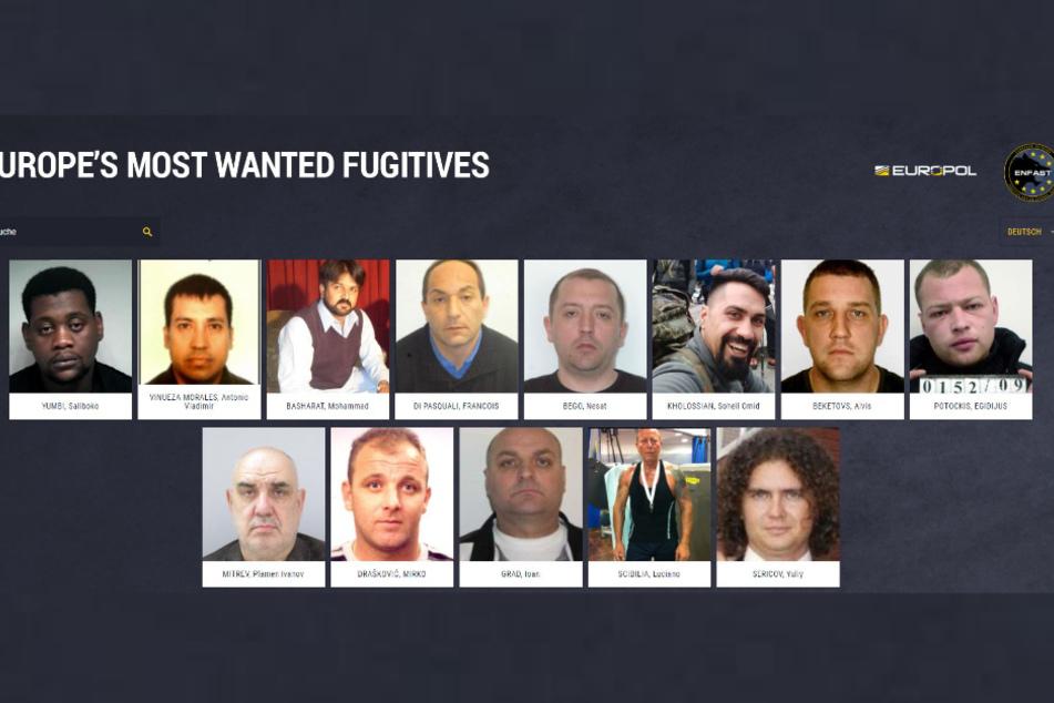"""Das sind """"Europe's Most Wanted"""": 18 der gefährlichsten Sexualstraftäter Europas, nach denen Europol mithilfe der Bürgerinnen und Bürger fahndet."""