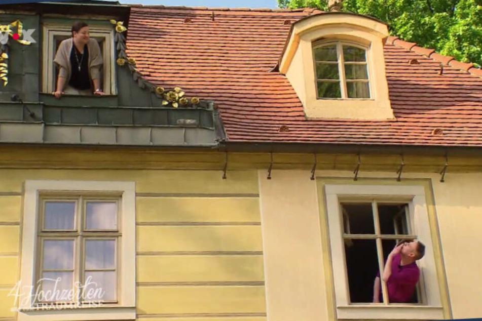 Die beiden turteln in Dresden.