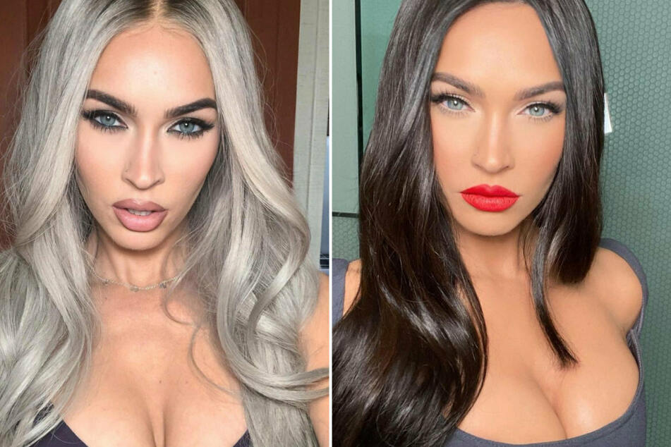 Over the weekend, Megan Fox teased her next film Johnny and Clyde by showing off her new blonde hairdo (l.).