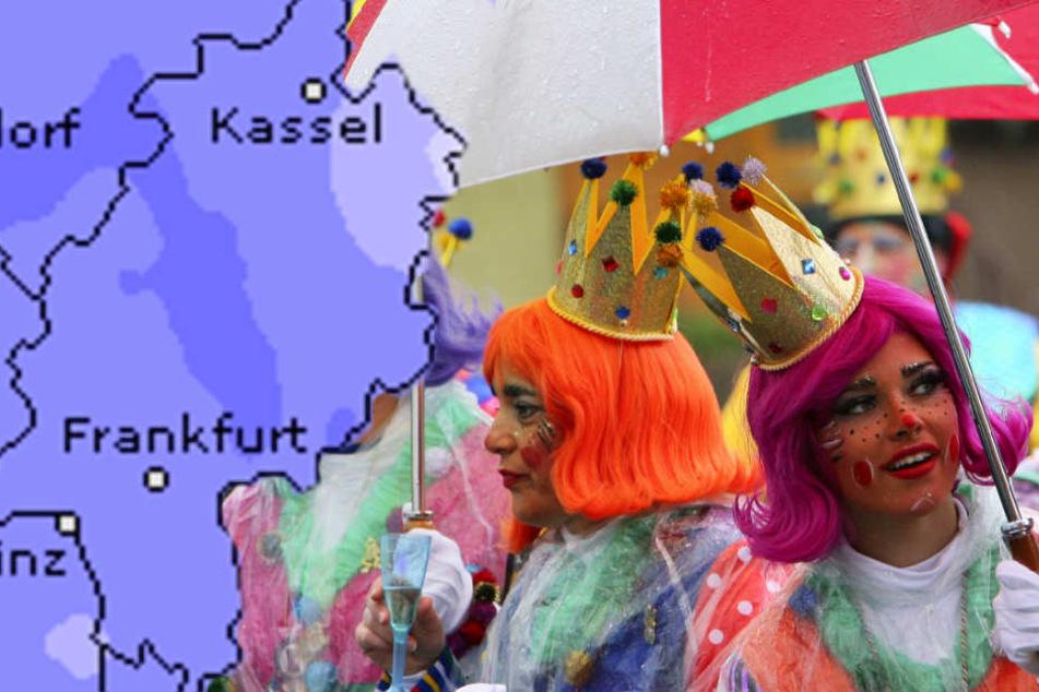 Wetteronline.de (Grafik) sagt für ganz Hessen ein erhöhtes Niederschlagsrisiko voraus.