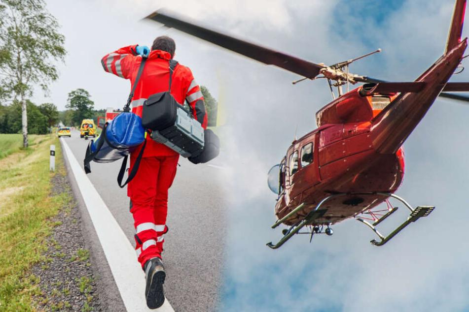 Sie wollten Menschen nach schwerem Unwetter helfen: Drei Männer sterben bei Hubschrauberabsturz