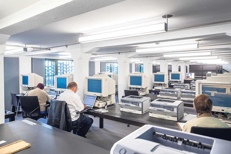 Der Lesesaal im Hauptstaatsarchiv. Weil Personal fehlt, sind Räume wie diese  nur noch eingeschränkt zugänglich.
