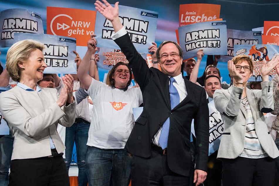 In zwei Umfragen vorn: CDU-Spitzenkandidat Armin Laschet hat mit seiner Partei gute Werte erzielt.