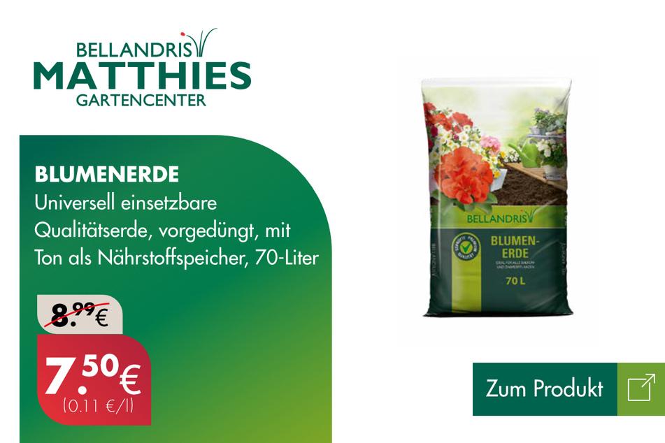 Blumenerde für 7,50 statt 8,99 Euro