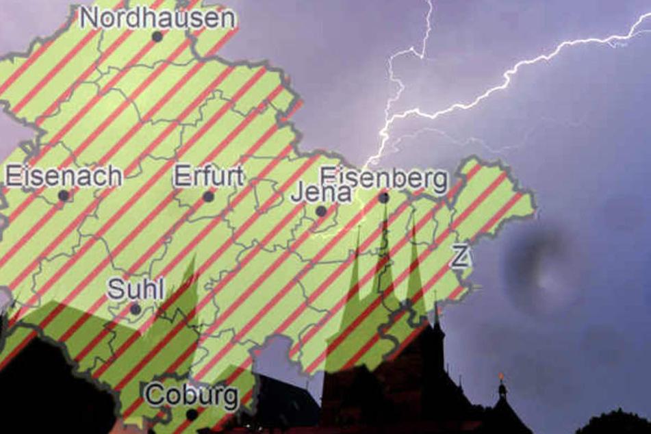 Vor allem in Südthüringen muss mit Donner und Blitz gerechnet werden.