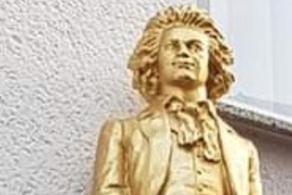 Die Polizei Bonn veröffentlichte dieses Foto von der gestohlenen Beethoven-Figur.