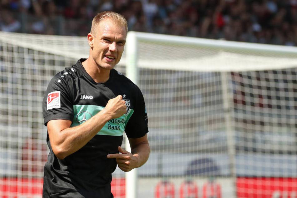 Holger Badstuber bejubelt gegen Heidenheim seinen zwischenzeitlichen Treffer zum 2:0 (57.).