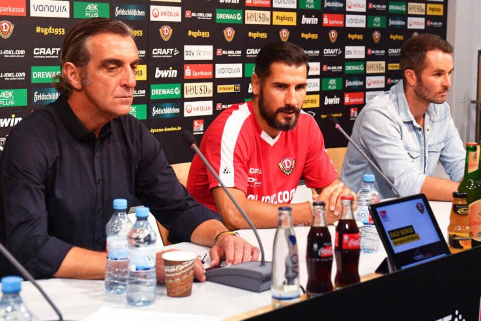 Sportdirektor Ralf Minge, (Ex-)Trainer Cristian Fiel und Chefscout Kristian Walter unterlagen bei der Kaderplanung offensichtlich einer Fehleinschätzung.