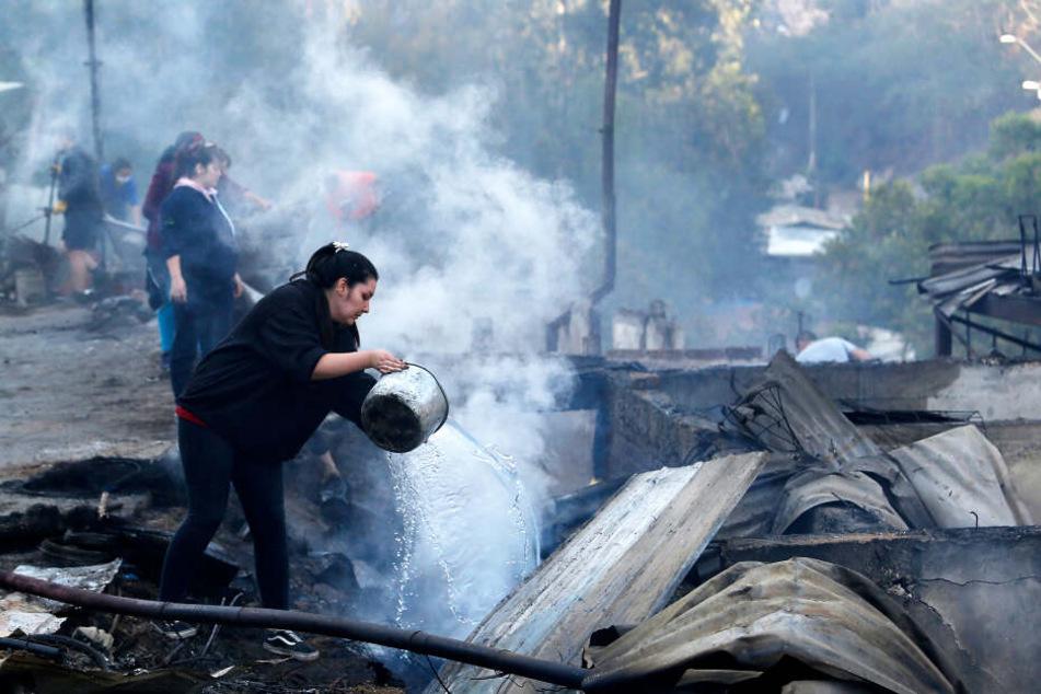 Das Feuer zerstörte über 240 Häuser.