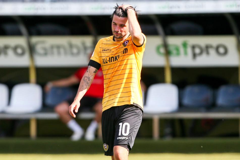Marco Terrazzino (29) stieg in der vergangenen Saison mit Dynamo Dresden aus der 2. Bundesliga ab.
