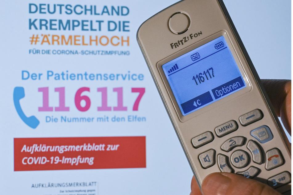 Am Montag versuchten etwa 305.000 Menschen in Baden-Württemberg, die Hotline 116117 anzurufen.