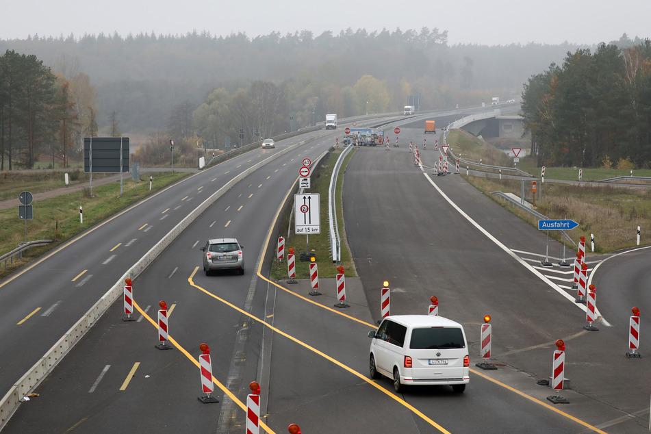 Die Petersdorfer Brücke der Autobahn A19 wird schon bald fertiggestellt.