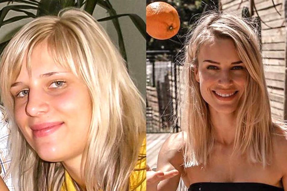 """Im Vergleich zu heute wirkt die 24-jährige Adrienne Koleszár (l.) etwas pausbäckig. """"Hamsterbacken"""", wie sie selbst sagt. Das Vorher-Nachher-Bild postete die """"Fitness-Influencerin"""" im Rahmen der """"10 Year Challenge""""."""