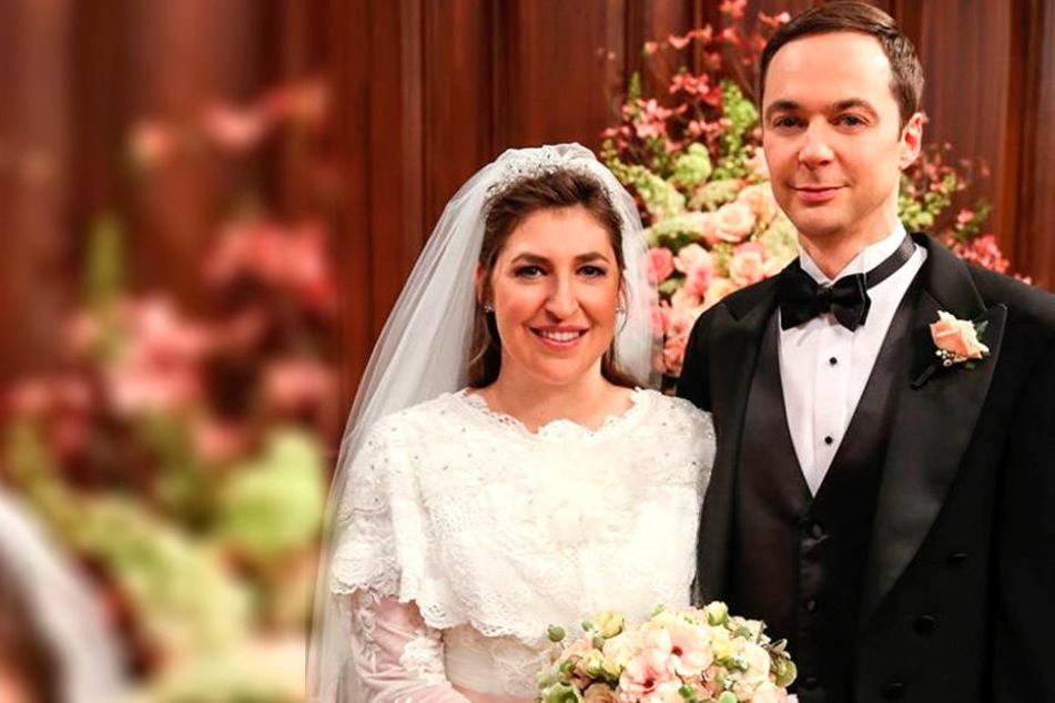 """Die elfte """"Big Bang""""-Staffel endet mit der Hochzeit von Amy (Mayim Bialik, 42) und Sheldon (Jim Parsons, 45)."""
