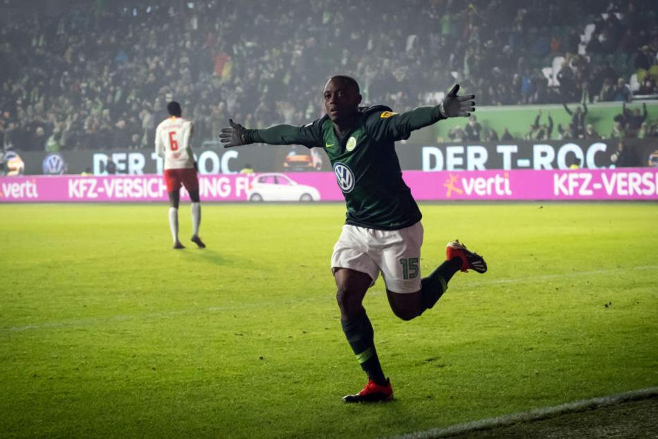 Jerome Roussillon erzielte in der 50. Minute das 1:0 für Wolfsburg - sein erstes Tor im VfL-Trikot.