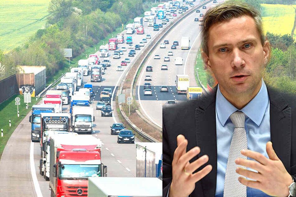 Verkehrsminister Dulig gerät wegen Dauer-Chaos auf A4 unter Beschuss